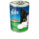 Felix Kaninchen & Pute Gele - Konservēta barība kaķiem (trusis un vista) 400 g.