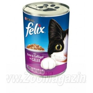 Felix Ente & Geflugel Gelle - Консервы для кошек (птица) 400 g.