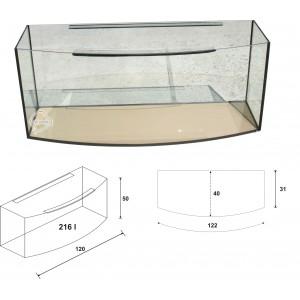 Akvarijs ar vaku 216 L.